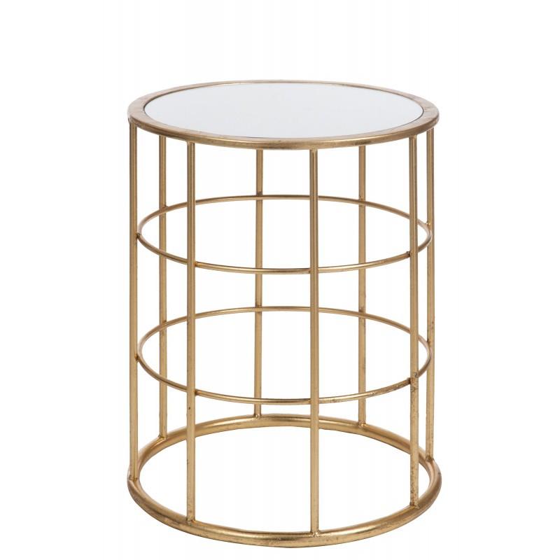 table gigogne metal or. Black Bedroom Furniture Sets. Home Design Ideas